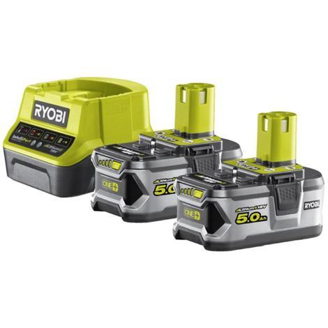 Pack 2 batteries ryobi 18v oneplus 50ah lithiumplus 1 chargeur rapide 20ah rc18120 250 p 191104 4521394 1